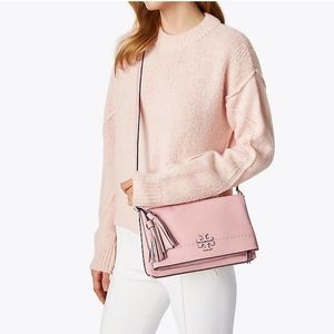 NWT Tory Burch leather McGraw crossbody bag pink